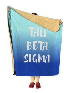 Tau Beta Sigma Gradient Sherpa Lap Blanket