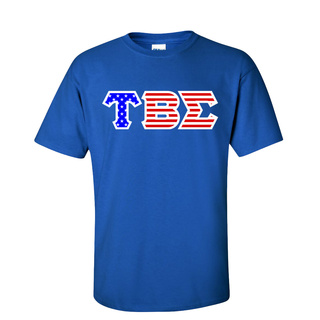 Tau Beta Sigma Greek Letter American Flag Tee
