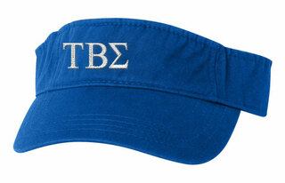 Tau Beta Sigma Greek Letter Visor