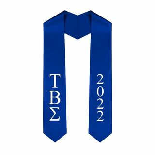 Tau Beta Sigma Greek Lettered Graduation Sash Stole With Year - Best Value