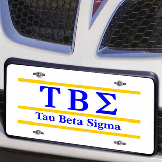 Tau Beta Sigma Lettered Lines License Cover