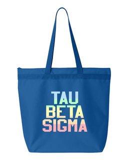 Tau Beta Sigma Pastel Tote Bag