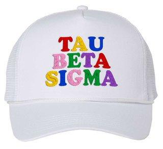 Tau Beta Sigma Rainbow Trucker Hat