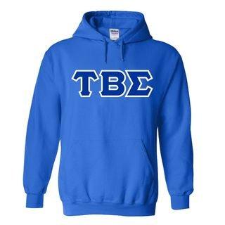 Tau Beta Sigma Sewn Lettered Hooded Sweatshirts