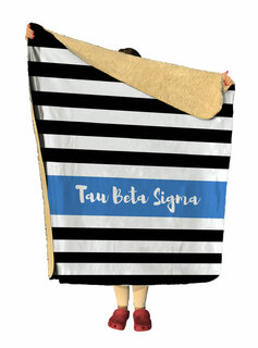Tau Beta Sigma Stripes Sherpa Lap Blanket