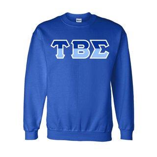 Tau Beta Sigma Two Tone Greek Lettered Crewneck Sweatshirt