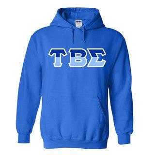 Tau Beta Sigma Two Tone Greek Lettered Hooded Sweatshirt