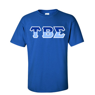 Tau Beta Sigma Two Tone Greek Lettered T-Shirt
