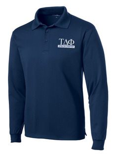 Tau Delta Phi- $30 World Famous Long Sleeve Dry Fit Polo
