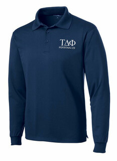 Tau Delta Phi- $35 World Famous Long Sleeve Dry Fit Polo
