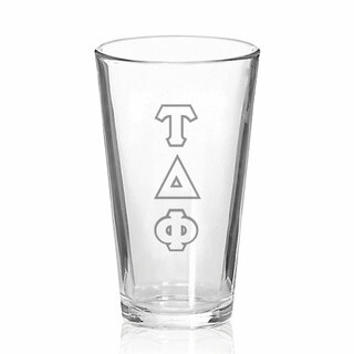 Tau Delta Phi Big Letter Mixing Glass