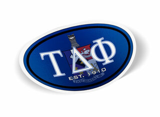 Tau Delta Phi Color Oval Decal