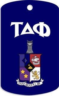 Tau Delta Phi Crest Dog Tags