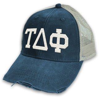 Tau Delta Phi Distressed Trucker Hat