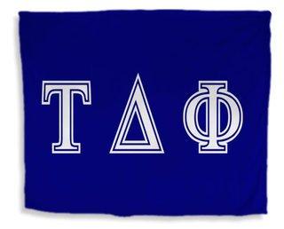 Tau Delta Phi Flag Giant Velveteen Blanket