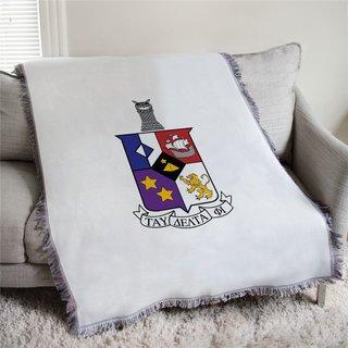 Tau Delta Phi Full Color Crest Afghan Blanket Throw