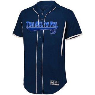 Tau Delta Phi Game 7 Full-Button Baseball Jersey