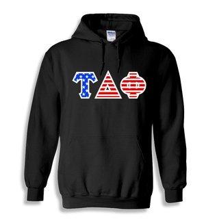 Tau Delta Phi Greek Letter American Flag Hoodie