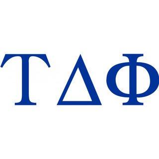Tau Delta Phi Greek Letter Window Sticker Decal