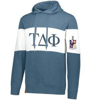 Tau Delta Phi Ivy League Hoodie W Crest On Left Sleeve