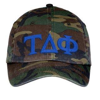Tau Delta Phi Lettered Camouflage Hat