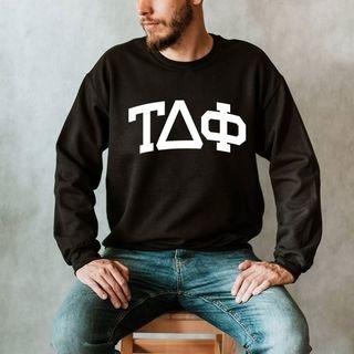 Tau Delta Phi Arched Greek Letter Crewneck Sweatshirt