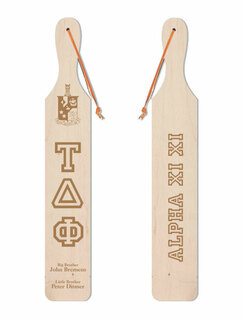Tau Delta Phi Old School Wood Greek Paddle