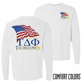 Tau Delta Phi Patriot Long Sleeve T-shirt - Comfort Colors