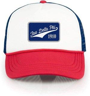 Tau Delta Phi Red, White & Blue Trucker Hat