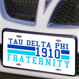 Tau Delta Phi Year License Plate Cover