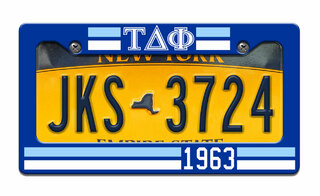 Tau Delta Phi Year License Plate Frame