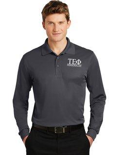 Tau Epsilon Phi- $30 World Famous Long Sleeve Dry Fit Polo