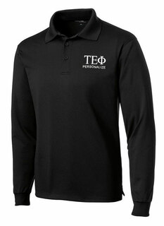 Tau Epsilon Phi- $35 World Famous Long Sleeve Dry Fit Polo