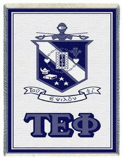Tau Epsilon Phi Afghan Blanket Throw