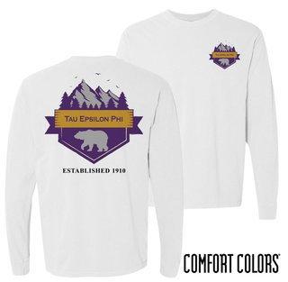 Tau Epsilon Phi Big Bear Long Sleeve T-shirt - Comfort Colors