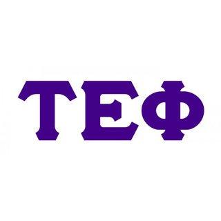Tau Epsilon Phi Big Greek Letter Window Sticker Decal