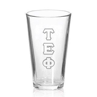 Tau Epsilon Phi Big Letter Mixing Glass