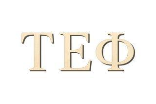 Tau Epsilon Phi Big Wooden Greek Letters
