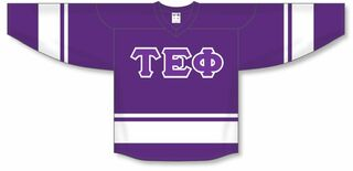 DISCOUNT-Tau Epsilon Phi Breakaway Lettered Hockey Jersey
