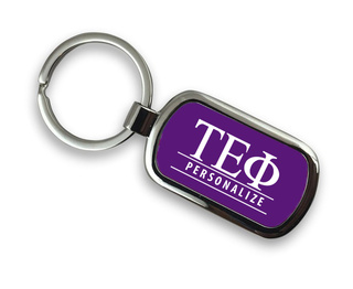 Tau Epsilon Phi Chrome Custom Keychain