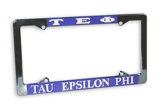 Tau Epsilon Phi Chrome License Plate Frames