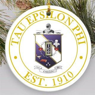 Tau Epsilon Phi Circle Crest Round Ornaments