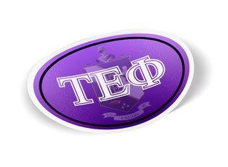 Tau Epsilon Phi Color Oval Decal