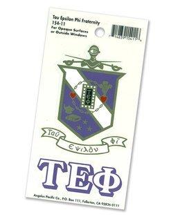 Tau Epsilon Phi Crest - Shield Decal