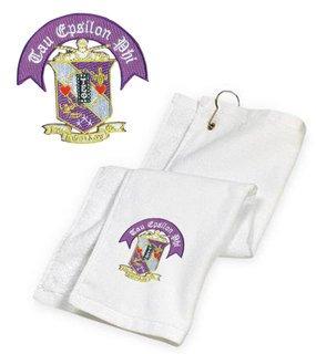 DISCOUNT-Tau Epsilon Phi Crest - Shield Golf Towel