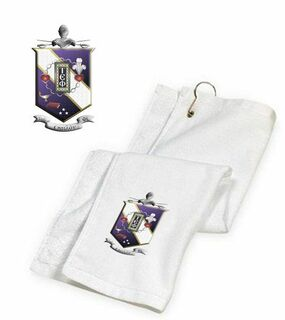 DISCOUNT-Tau Epsilon Phi Crest - Shield Golf Towel