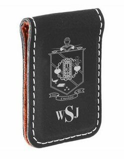 Tau Epsilon Phi Crest Leatherette Money Clip