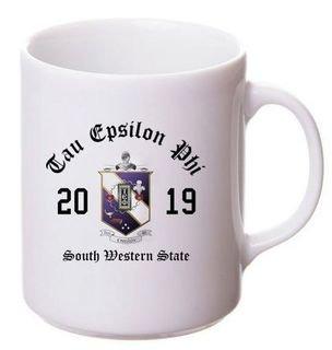 Tau Epsilon Phi Crest & Year Ceramic Mug
