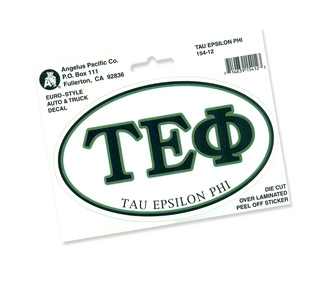 Tau Epsilon Phi Euro Decal Oval Sticker