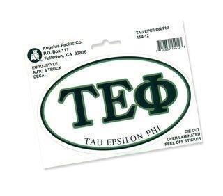 Tau Epsilon Phi Euro Decal Oval Sticker